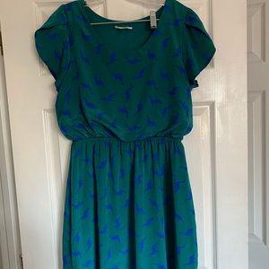 ModCloth flutter-sleeve dino dress